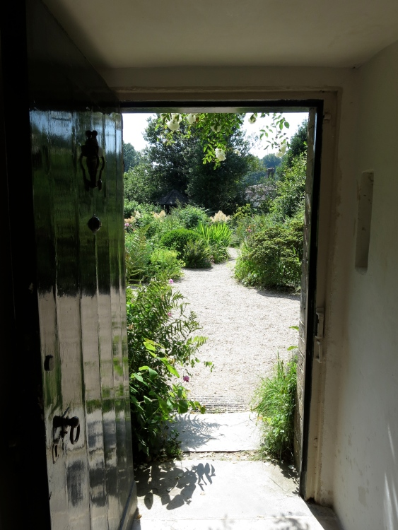 view into garden from front door of Thomas Hardy's cottage
