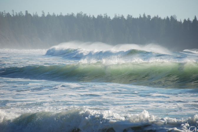 Waves keep rolling in, Florencia Bay Beach