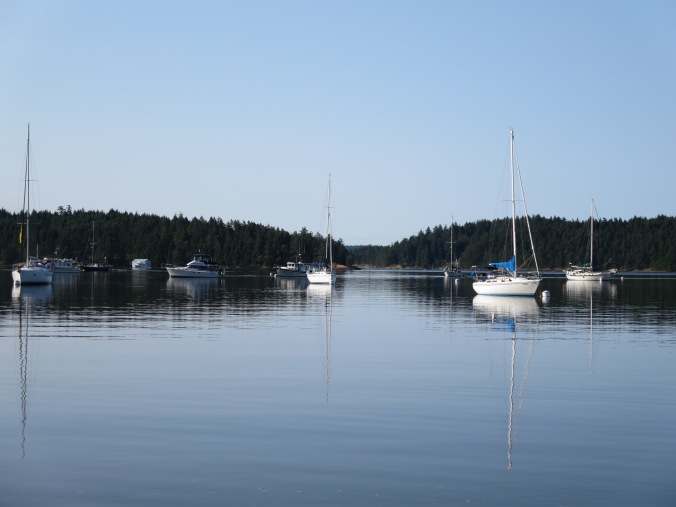 Sailboats, Montague Harbour