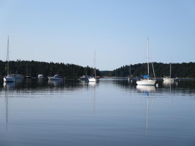 Sailboats, Montague Harbour