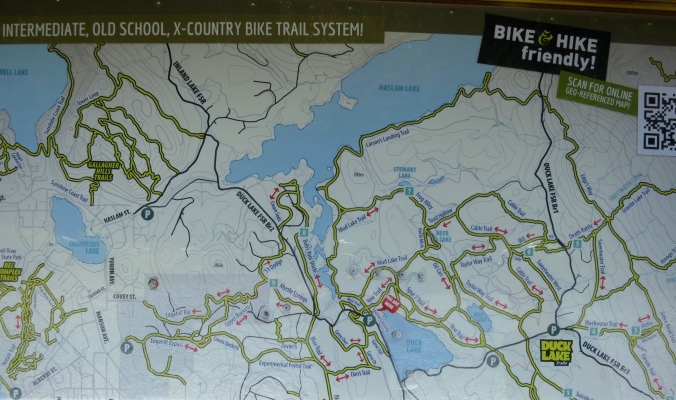 Map of Duck Lake trails