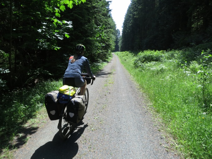 riding the Cowichan Valley Trail